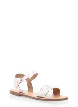 Ankle Strap Sandals - MULTI COLOR - 3110074453359