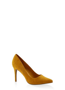 Faux Suede High Heel Pumps - 3111004062276