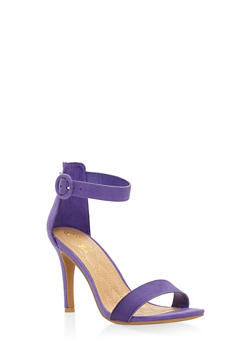 High Heel Ankle Strap Sandals - PURPLE - 3111004062529