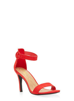 High Heel Ankle Strap Sandals - RED - 3111004062529