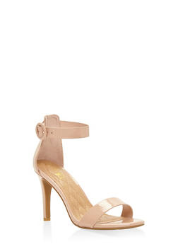 High Heel Ankle Strap Sandals - NUDE - 3111004062529
