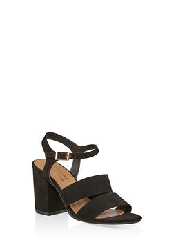 Block Heel Sandals | 3111004062774 - BLACK SUEDE - 3111004062774