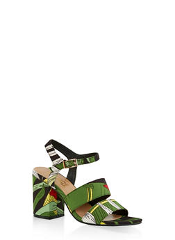 Block Heel Sandals | 3111004062774 - BLACK MULTI - 3111004062774