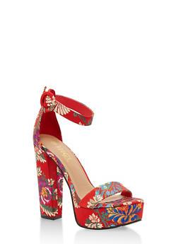Platform Ankle Strap High Heel Sandals - 3111004062999