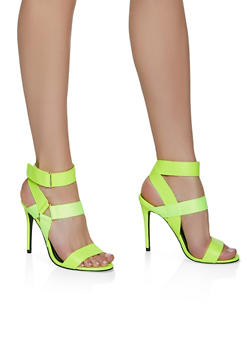 Velcro Ankle Strap High Heel Sandals - 3111004063275