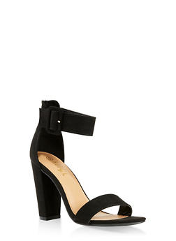 Buckle Ankle Strap Block Heel Sandals | 3111004063739 - 3111004063739