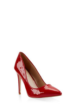 Pointed Toe Stilettos - RED - 3111004064424