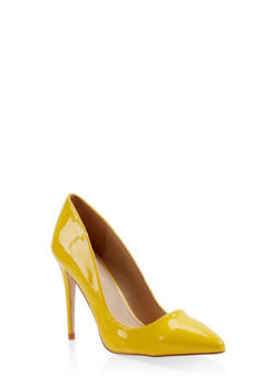 Pointed Toe Stilettos - YELLOW - 3111004064424