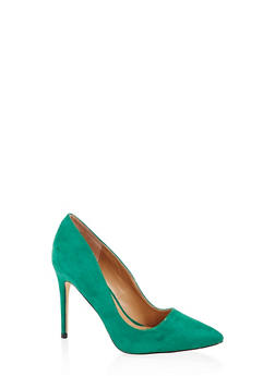 Pointed Toe Stilettos - GREEN - 3111004064426