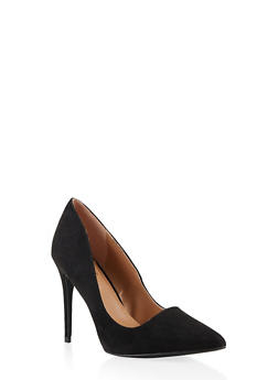 Pointed Toe Stilettos - BLACK SUEDE - 3111004064426