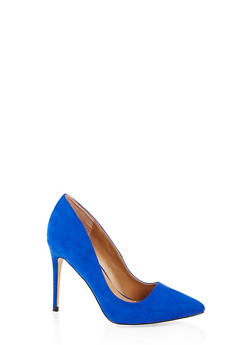 Pointed Toe Stilettos - BLUE - 3111004064426