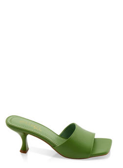 Flare Heel Sandals - 3111004064603