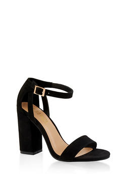Ankle Strap Chunky High Heel Sandals - 3111004064637
