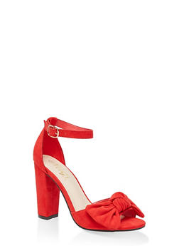Bow High Heel Sandals - 3111004066272