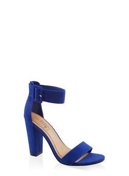 Buckle Ankle Strap High Heel Sandals | 3111004066273 - NAVY S - 3111004066273