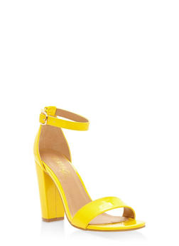 Ankle Strap High Heel Sandals - YELLOW - 3111004067268