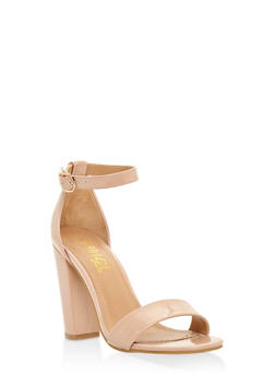 Ankle Strap High Heel Sandals - NUDE - 3111004067268