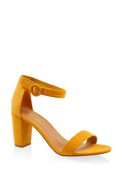 Single Band Block Heel Sandals - 3111004067979
