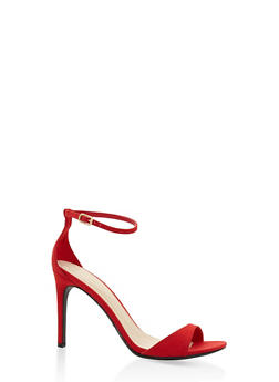 Ankle Strap High Heel Sandals - RED - 3111004068464