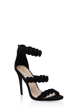 Twisted Strap High Heel Sandals - 3111029913484