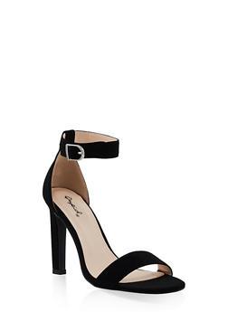 Ankle Strap High Heel Sandals | 3111029914877 - BLACK SUEDE - 3111029914877