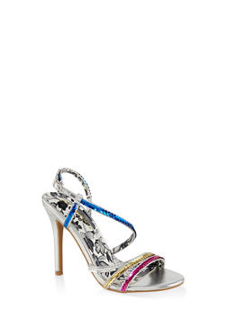 Sequin High Heel Sandals - 3111062865466