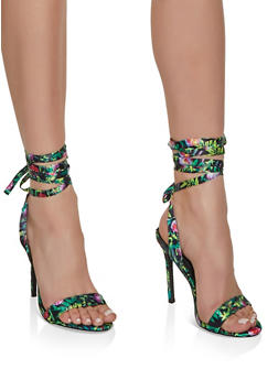 Ankle Wrap High Heeled Sandals - 3111065466378
