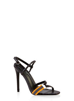 Multi Strap Slingback High Heel Sandals - 3111070962744
