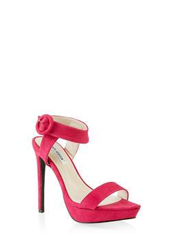 Ankle Strap Buckle Platform Sandals - FUCHSIA - 3111070969296