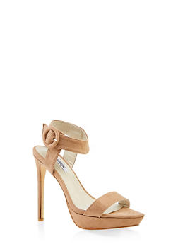 Ankle Strap Buckle Platform Sandals - NUDE - 3111070969296