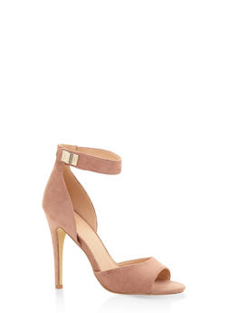 Peep Toe High Heel Sandals - MAUVE - 3111073541004