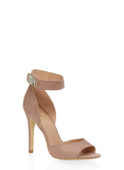 Peep Toe High Heel Sandals - NUDE - 3111073541004