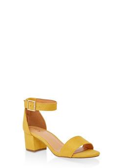 One Band Block Heel Sandals - 3111073541005