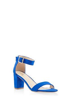 Ankle Strap Block Heel Sandals - 3111073541006