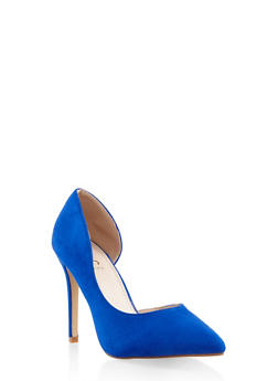 Pointed Toe High Heel Pumps - NAVY - 3111073541028