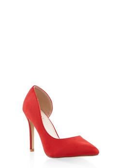 Pointed Toe High Heel Pumps - RED - 3111073541028