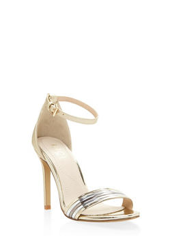 Ankle Strap High Heel Sandals - GOLD - 3111073541030