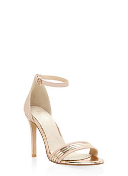 Ankle Strap High Heel Sandals - BLUSH - 3111073541030