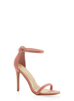 Ankle Strap Faux Suede High Heel Sandals - MAUVE - 3111074044257