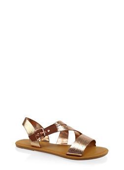 Buckle Strap Sandals - BRONZE - 3112004062283