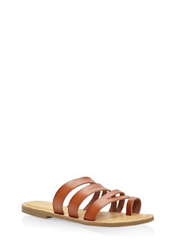 Strappy Toe Ring Sandals - TAN - 3112004062471