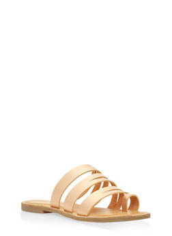 Strappy Toe Ring Sandals - BRONZE - 3112004062471
