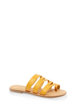 Strappy Toe Ring Sandals - YELLOW - 3112004062471
