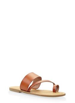 Toe Ring Strap Slide Sandals - 3112004062473