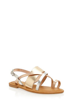 Strappy Toe Ring Sandals - 3112004062529