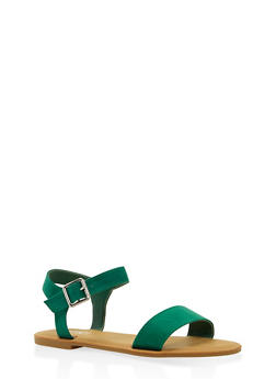 Ankle Strap Sandals - GREEN - 3112004062541