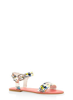 Ankle Strap Sandals - WHITE MULTI - 3112004062541