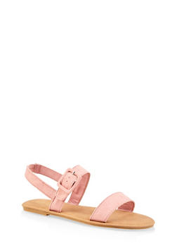 Ankle Strap Large Buckle Sandals - 3112004062547