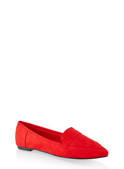 Pointed Toe Flats | 3112004062566 - RED S - 3112004062566