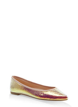 Pointed Toe Flats | 3112004062567 - METALLIC MULTI - 3112004062567